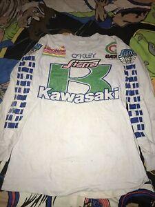 Vtg 80s Kawasaki Oakley Sierra Silkolene Factory Team Jersey Motocross GAERNE