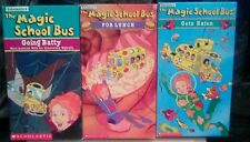 "The Magic School Bus LOT of 5 VHS tapes ""For Lunch"" ""Gets Eaten"" ""Going Batty"""