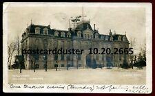 2665- WINNIPEG Manitoba 1907 Parliament Buildings. Real Photo Postcard by Cleyen