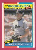 1987 Fleer Baseball Best Sluggers vs Pitchers # 10 Roger Clemens