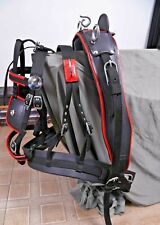 SYNTHETIC NYLON DRIVING CART HARNESS SET TWO TONE BLACK/RED FOR SINGLE HORSE