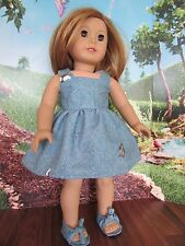 "homemade 18"" doll american girl/madame alexander  sundress doll clothes"