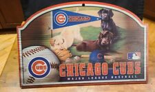 Chicago Cubs Wooden Sign with Dogs Killen Artist wincraft 2009 Made in Usa