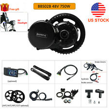48V 750W Bafang Electric Bicycle BBS02B Mid-drive Motor Conversion Kit DIY Ebike