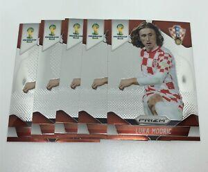 2014 Panini Prizm World Cup Soccer Croatia Luka Modric Lot of 5 Cards #118