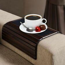 Kleeger Sofa Arm Tray Table: Wood Side Table Tray| Flexible, Portable & Foldi...