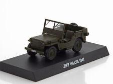 JEEP WILLYS 1:43 Car Model Die Cast Metal Models Miniature Willys Green