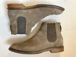 Clarks Clarkdale Gobi Chelsea Boots Taupe Suede Men's US 11