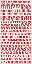 Kaisercraft K Style - Alphabet Stickers - Red - Numbers Letters