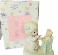 Precious moments figurine box Enesco 1994 members only sharing high chair PM942