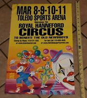 ROYAL HANNEFORD CIRCUS Toledo Ohio Sports Arena POSTER Old News Boys benefit