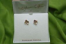 Irish Jewellery Maureen O'Hara Rose Gold Shamrock Earrings Quiet Man