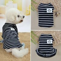 Dog Clothes Summer Teddy Spring Pet Puppy Cat Vest T Shirt Dress Apparel Skirt