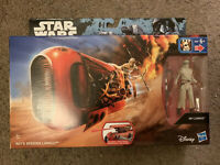 "STAR WARS Force Awakens REY'S SPEEDER with REY JAKKU 3.75"" Action Figure 2016"