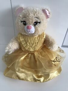 """BAB BUILD A BEAR WORKSHOP BELLE BEAUTY AND THE BEAST PLUSH SOFT TOY 18"""" RARE"""
