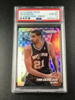 TIM DUNCAN 2014 PANINI PRIZM #4 SP VARIATIONS SILVER REFRACTOR PSA 10