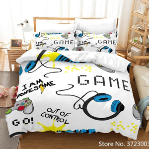 Gamer Bedding Set Game Duvet Cover For Youth Kids Boy Modern Game Controller Set
