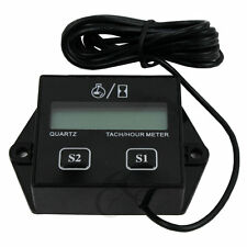 Universal Digital Tach Hour Meter Tachometer Gauge Dirt bike ATV UTV Gas Engines