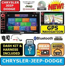CHRYSLER JEEP DODGE GPS Navigation Double Din CD/ DVD Radio Stereo bluetooth bt