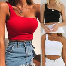 Women Sexy Vest Casual Blouse Camisole Cotton Sleeveless T-Shirt Short Crop Tops