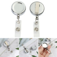 ID Name Card Anti-Lost Clip Key Ring Badge Holder Retractable Lanyards