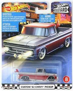 Hot Wheels Diecast BOULEVARD 1962 Custom Chevy Pickup  Metal/Real Riders