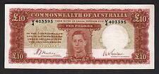 Australia R-58. (1940) 10 Pounds - Sheehan/McFarlane.. George VI Portrait..   F+