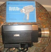 Vintage Bell Howell collectible Focus matic video movie camera 1960's 493F 493SF