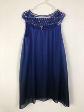 SOMA Purple Ombre Knit Sleeveless Dress ~ Size Medium M Beautiful