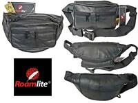 Real Leather Bumbag Money Belt Waist BumBags Holiday Travel 7 Zip Pouch Bags 268