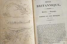 REVUE BRITANNIQUE VOYAGE ABYSSINIE RUPPELL 1842 CARTE ADEN RIMBAUD JEANCOLAS REL
