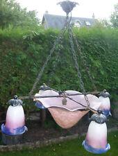 lustre suspension vasque tulipe le Verre Français pâte de verre