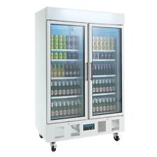 CD984 Gastro Getränke Kühlschrank 2 Türig mit Glastür Flaschenkühlschrank Kühlvi