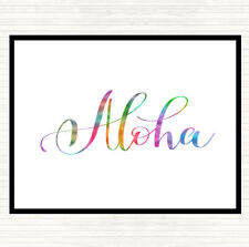 Aloha Rainbow Citation Mouse Mat Pad