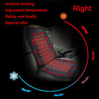 RIGHT 12V Heated Van Car Seat Cover Seat Warmer Massage Thermal Padded Cushion