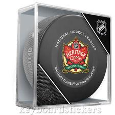 2019 Tim Hortons NHL Heritage Classic Calgary Flames & Winnipeg Jets Game Puck