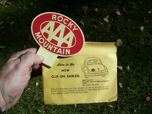 Original 1950 's- 1940s Vintage AAA auto glow emblem nos badge chevy gm Ford vw