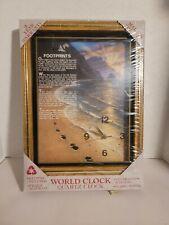 Footprints passage quartz clock