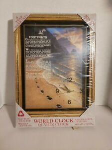 Footprints passage quartz clock