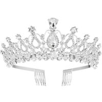 Bridal Crystal Rhinestone Princess Hair Band Wedding Tiara Prom Crown Headband