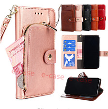 Zipper Card wallet Flip Leather Stand Case Cover For One Plus 7 Pro/Moto G7Power