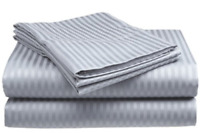 Bed Sheet Set 100 % Cotton Sheets Full Size Deep Pocket Fitted & Flat 4 Piece