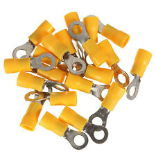 20x Yellow Ring Insulated Wire Connector Electrical Crimp Terminal 12-10AWG M5