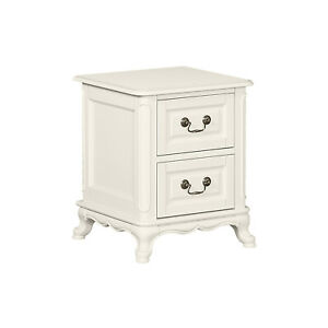 Limoge Provence Nightstand/bedside table in Vintage White