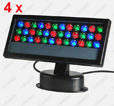 4Pcs 36W Outdoor LED RGB Light DMX Control Project Flood Lamp Waterproof Stage