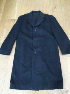 HORNE BROTHERS  Charcoal Wool/Cashmere Blend Coat   LARGE