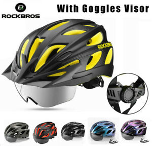 ROCKBROS Bicycle Helmet Integrally EPS Cycling Helmet w/ Polarized Goggles Visor