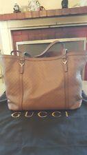 Gucci Tan Ssima Joy Tote in Brown