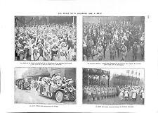 WWI Fêtes Metz Président Raymond Poincaré & Georges Clemenceau ILLUSTRATION