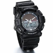 Military Digital Analog Men Sport Watches LCD Date Army Alarm Quartz Wrist Watch